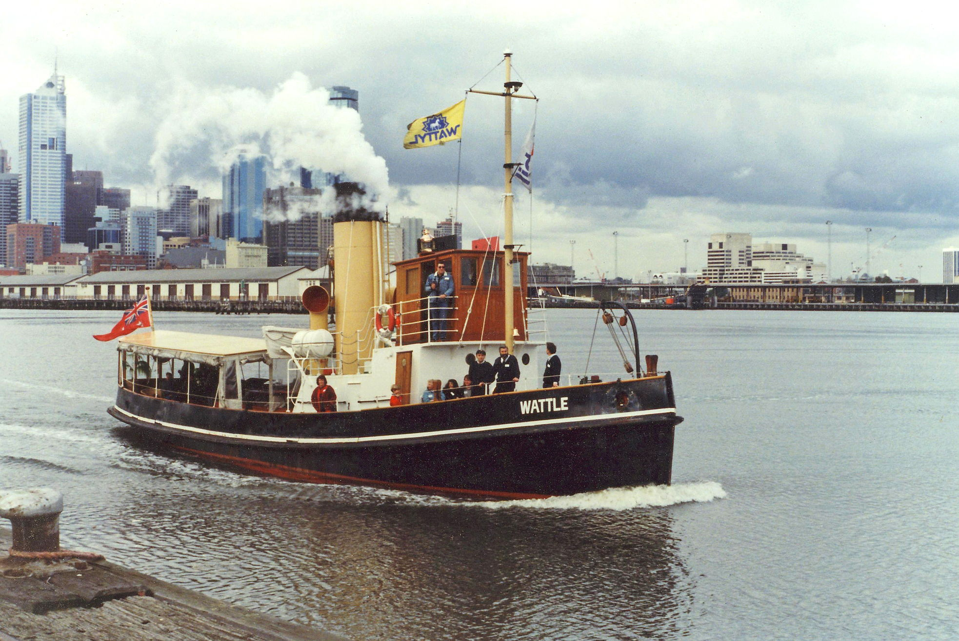 Steaming out of Victoria Dock 1993, Jeff Malley